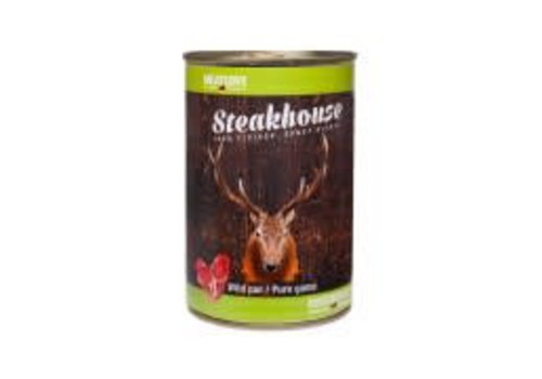 Meatlove Steakhouse blik Puur Hert & Konijn 410 gram