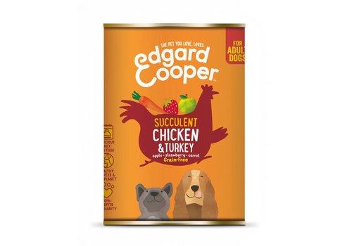 Edgard&Cooper Kip & kalkoen met appel, aardbei & wortel 400 gram