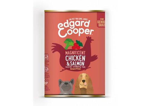 Edgard&Cooper Kip & Zalm Senior met broccoli, cranberry & boerenkool 400 gram