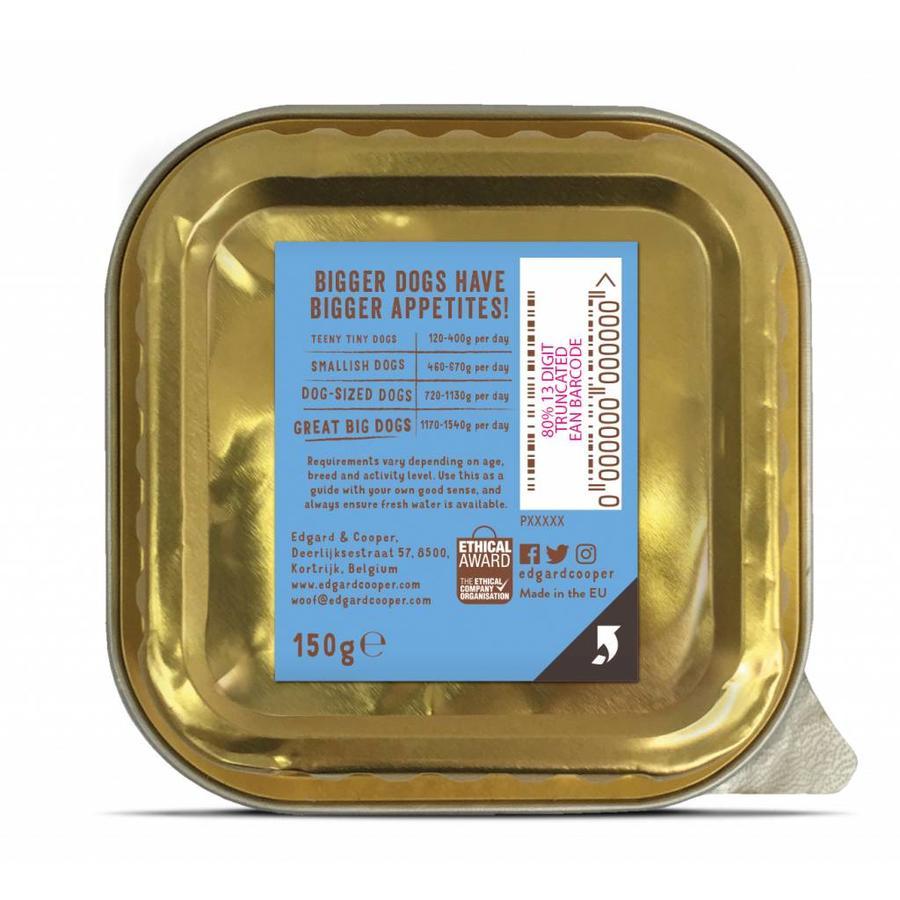 Zalm & Forel met rode biet, appel & spinazie 150 gram