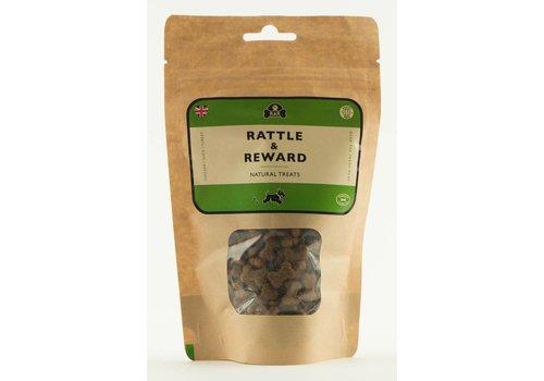 Rattle & Reward Natuurlijke hondensnoepjes navulling kip/eend/kalkoen 120 gram