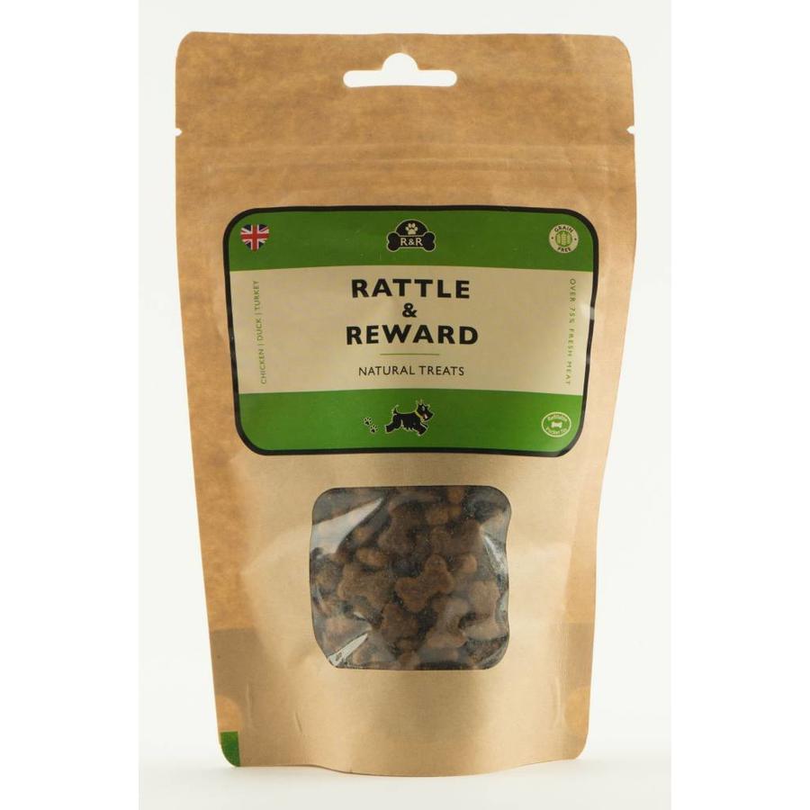 Natuurlijke hondensnoepjes navulling kip/eend/kalkoen 120 gram