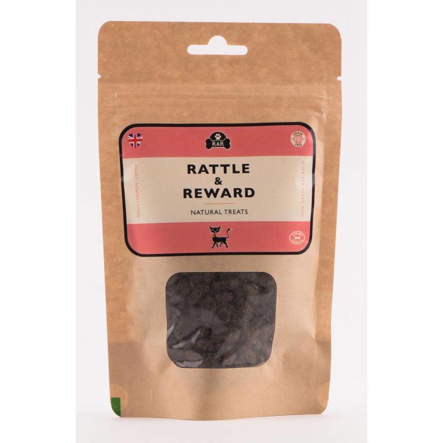 Natuurlijke kattensnoepjes navulling zalm/witvis 120 gram