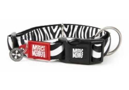 Max & Molly Hondenhalsband Zebra