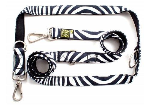 Max & Molly Hondenriem Multi Zebra