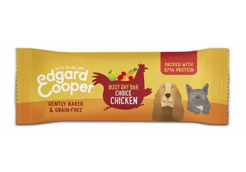 Edgard&Cooper Busy day bar met Kip, appel, wortel en cranberry 25 gram