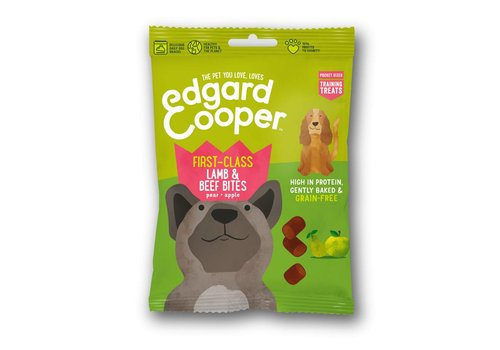 Edgard&Cooper Lam & Rund bites met peer & appel 50 gram