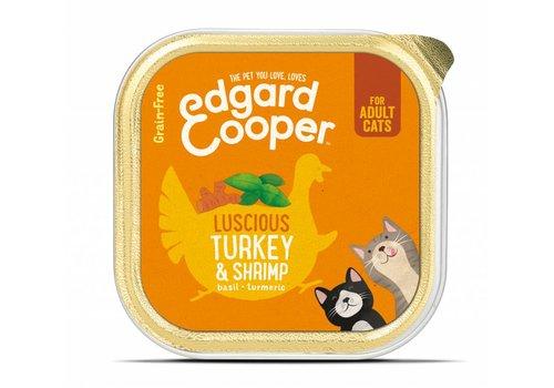 Edgard&Cooper Kat - Kalkoen & Garnalen kuipje 85 gram