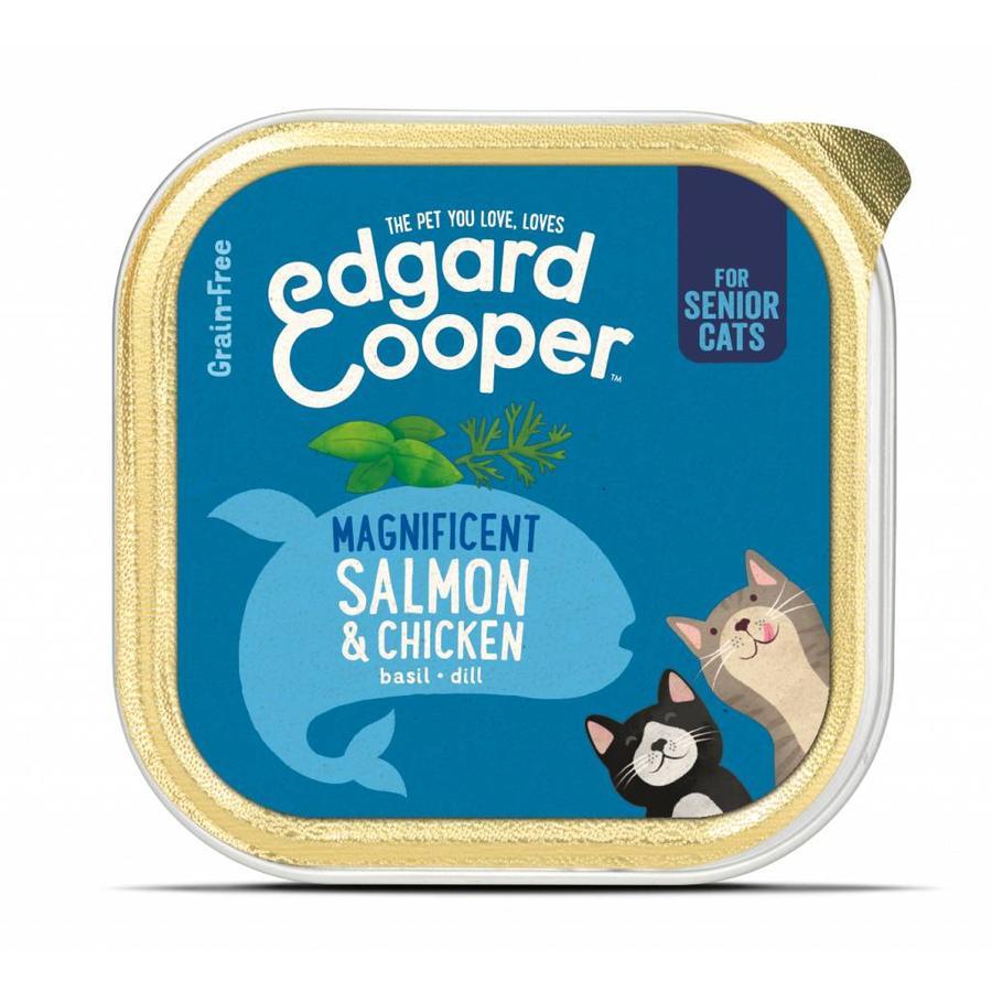 Senior kat - Zalm & Kip kuipje 85 gram