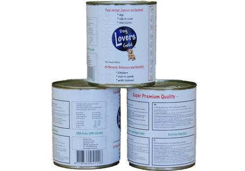 Dog Lovers Gold DLG blikvoer Kip/Lam/Zalm 800 gram