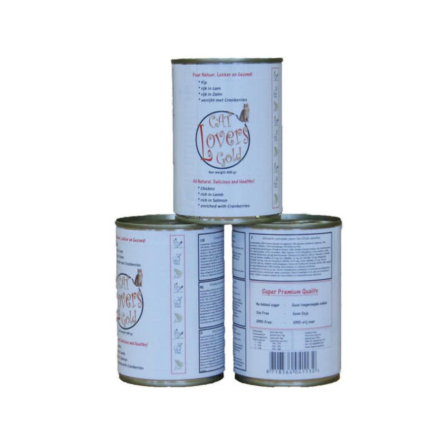 CLG blikvoeding Kip/Zalm/Lam 400 gram