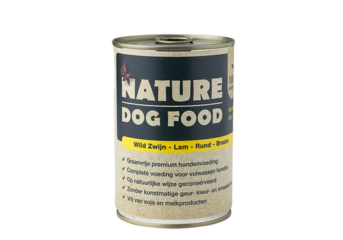Nature Dog Food Nature Dog Food blik wild zwijn - lam - rund - braam 400 gram