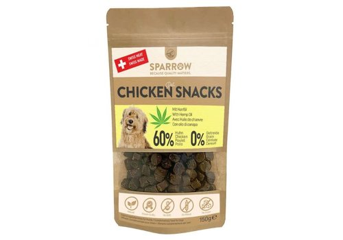 Sparrow Pet Chicken Snacks with CBD 150g