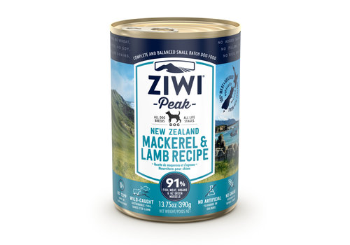 Ziwipeak Dog blik Mackerel & Lamb 390 gram