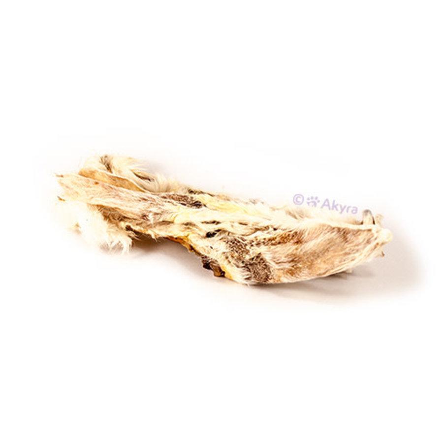 Konijnenoren met vacht 250 gram