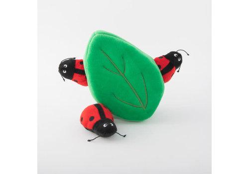 ZippyPaws Verstopspeeltje - Lieveheersbeestjes in blad