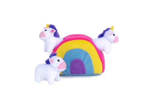 ZippyPaws Verstopspeeltje - Unicorns & Regenboog
