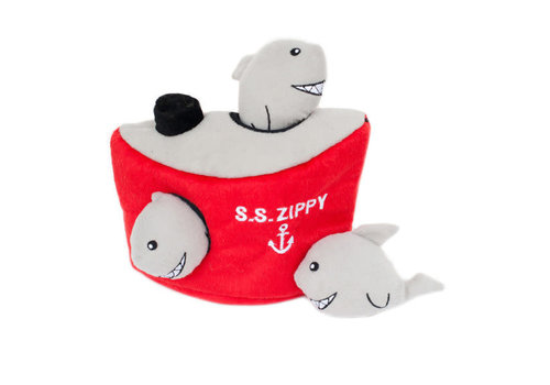 ZippyPaws Verstopspeeltje - Haaien in Schip