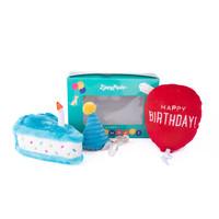 Verjaardagsbox pup blauw