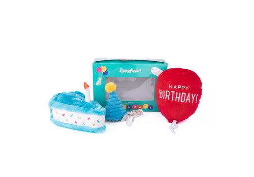 ZippyPaws Verjaardagsbox pup blauw