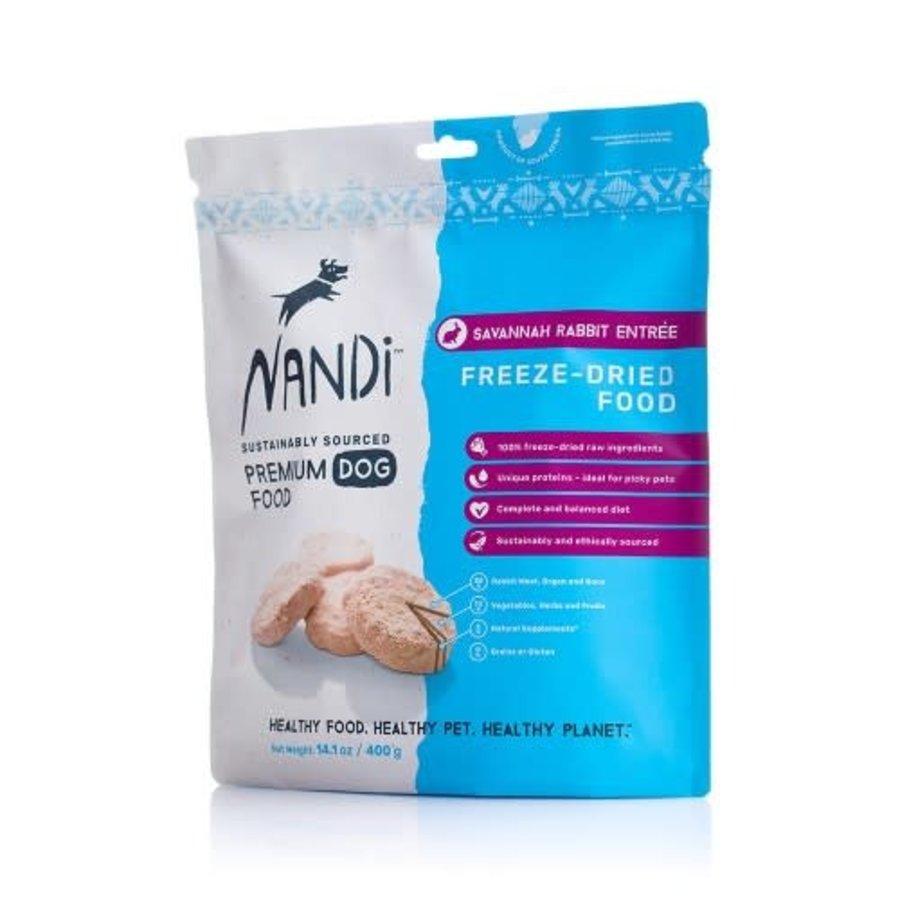 Nandi Freeze Dried Food Savannah Rabbit 400 gram