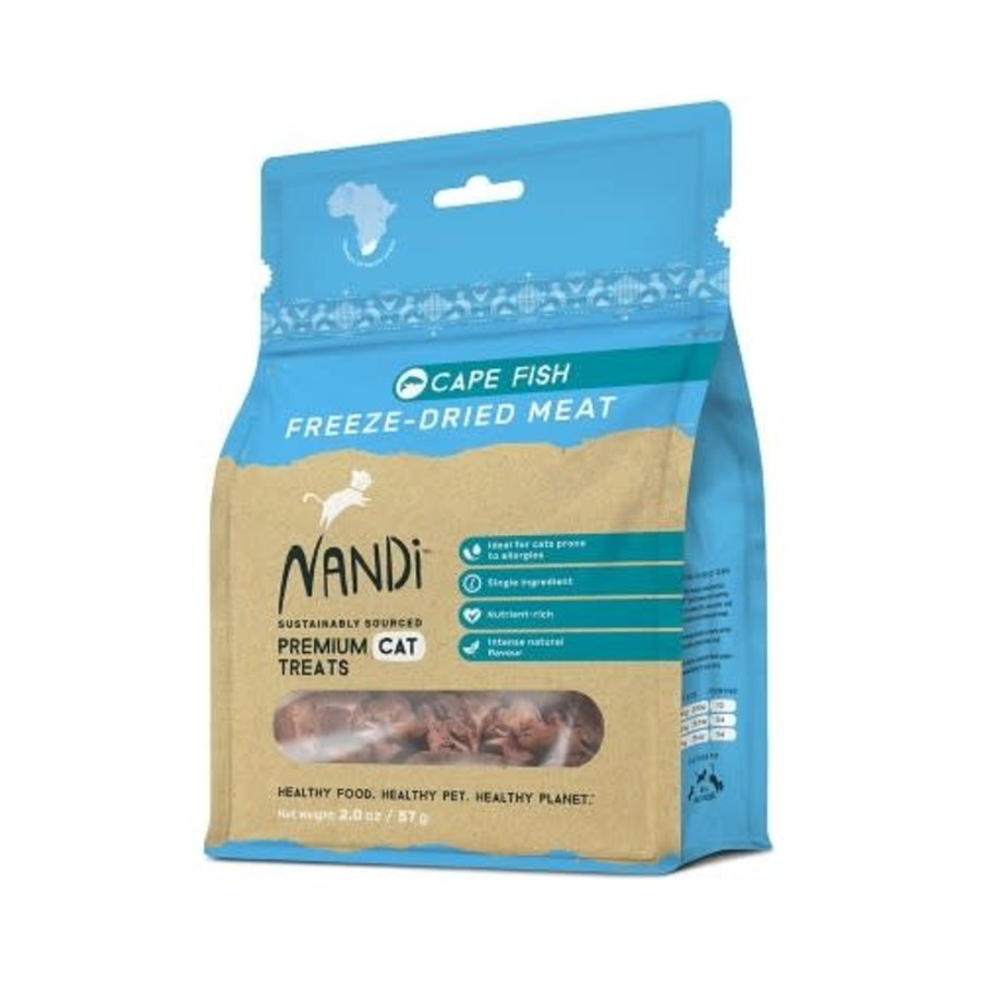 Nandi Freeze Dried Treats Cape Fish 57 gram