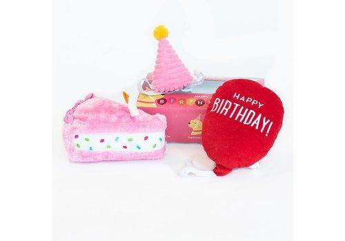ZippyPaws Verjaardagsbox pup roze
