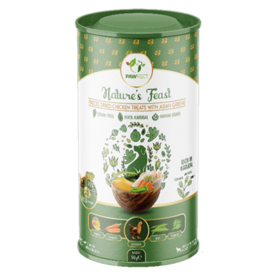 Freeze-Dried Chicken Treats with Asian Greens 50 gram