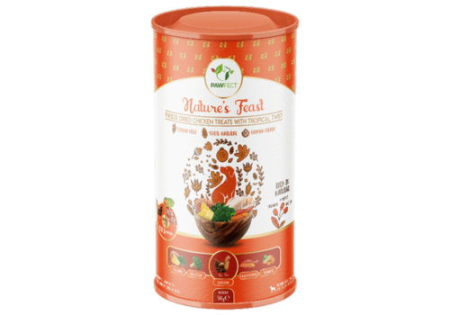 Pawfect Freeze-Dried Chicken Treats with Tropical Twist 50 gram