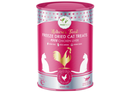 Pawfect Freeze-Dried Cat Treats Chicken Liver Treats 50 gram