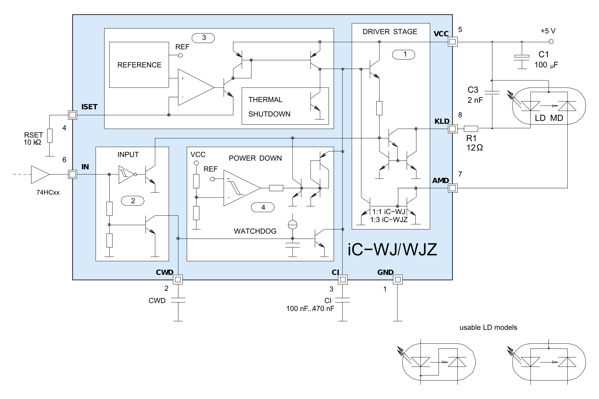 Block Diagram Of Laser Diode Driver Circuit