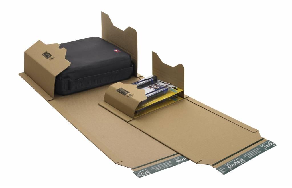 Boekverpakking 455 x 320 x 20 - 55 mm A3 Bruin, 25 st/pak