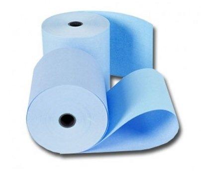 Houtvrije kassarollen 76x70x12mm blauw 1 doos a 50 rol