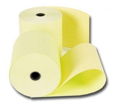 Thermo kassarollen 80x80x12mm 55 gr. geel 1 doos a 50 rol