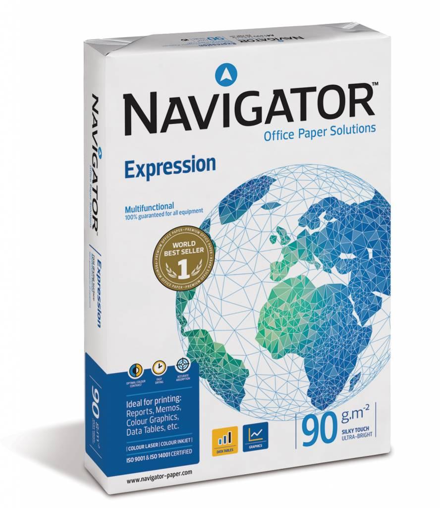Kopieerpapier Navigator expression FSC a4 90gr wit 500vel per pak