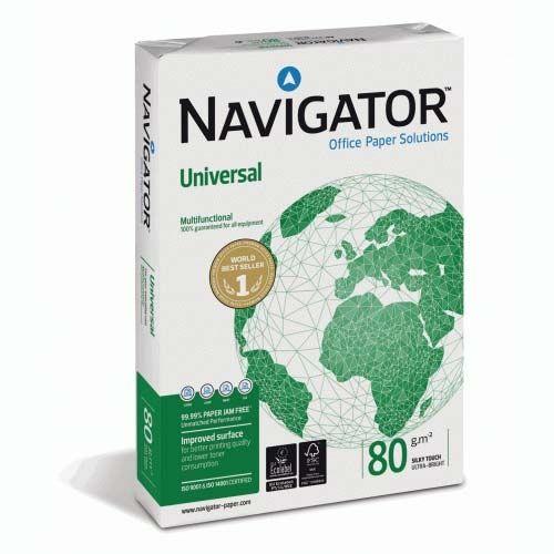 Kopieerpapier Navigator universal a3 80gr wit 500 vel per pak