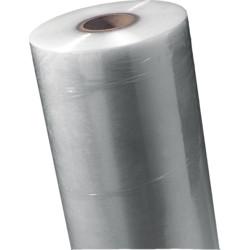 Machinefolie Powerstrech 50 mm x 2.000 mtr, TRANSPARANT 250% rek 17 micron prijs per kilo