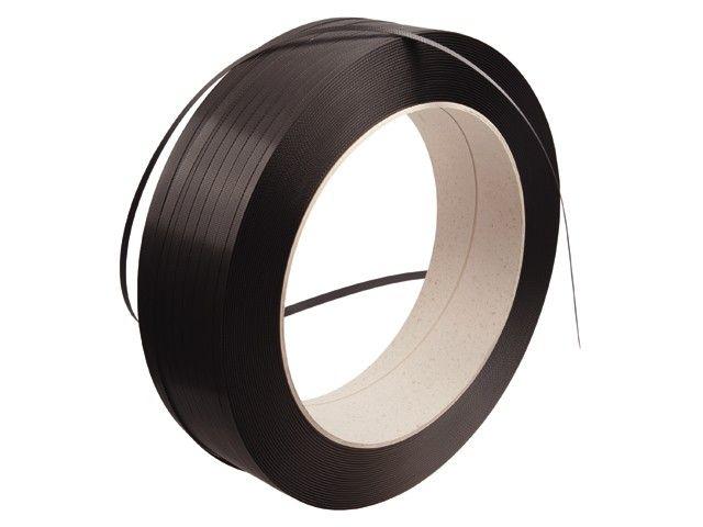 PP Omsnoeringsband B 12 / 075 mm x L 2200 mtr Kern 406 mm zwart strappingband