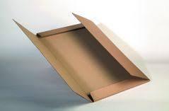 Bruine kalenderverpakkingen 5 panelen, 945mm x 675mm x 50mm, pak van 20 stuks, voor boeken, enkele golf (medium), kraft, belastbaar tot 10kg.