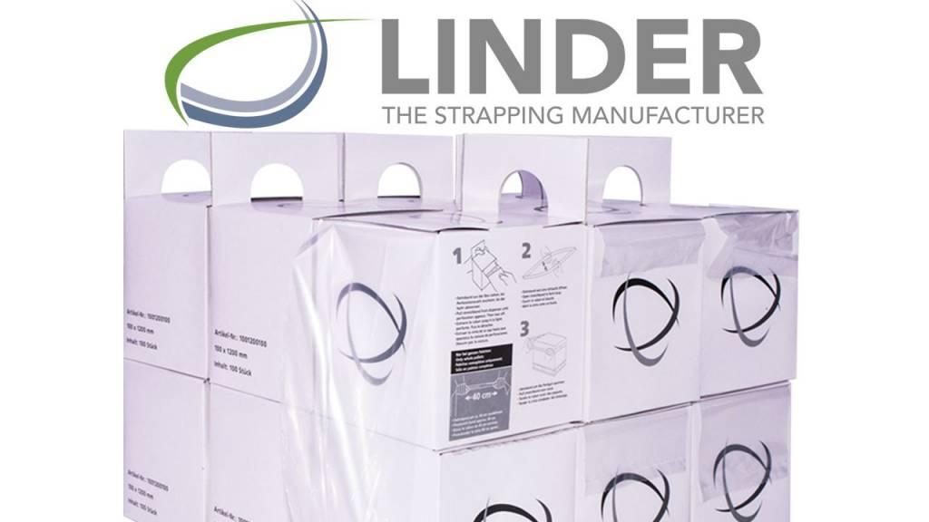 Linstrap Rekfolieband B 100 mm x L 1200 mm, voor euro- en blokpallet, 100st/rol