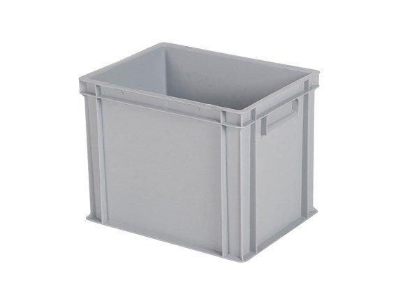 Stapelbak / bordenbak - 400 x 300 x H 320 mm (versterkte bodem) - grijs