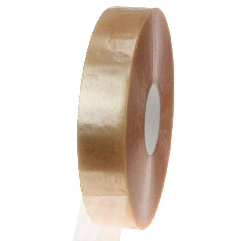 Machine tape PP solvent 990 mtr x 38 mm transparant, 8 rol/ds