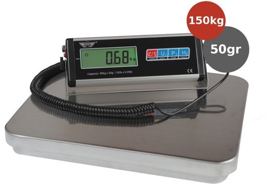 My Weigh My weigh HDCS-150 150kg x 50gr Pakket weegschaal