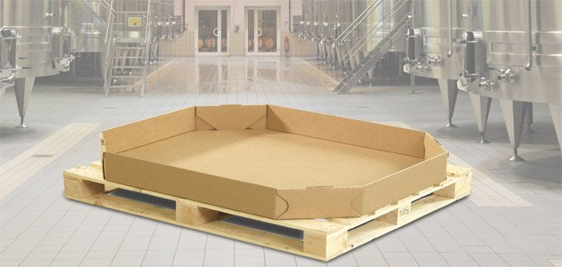 Octabin bodem/deksel 1192x792x200 Fefco 0352.30BD  kwaliteit FKK062 280 stuks per pallet
