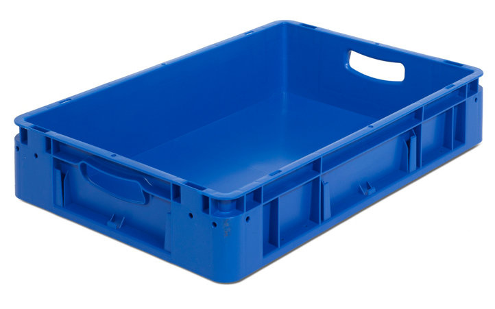 Blauwe stapelbakken silverline 600x400x120 mm