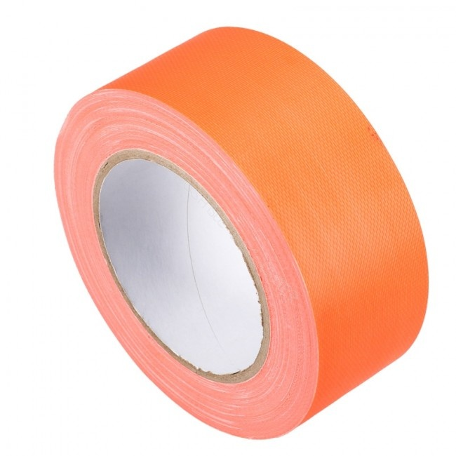 Duct tape 50 mm x 50 mtr Oranje - Professioneel, 24 rol/ per doos