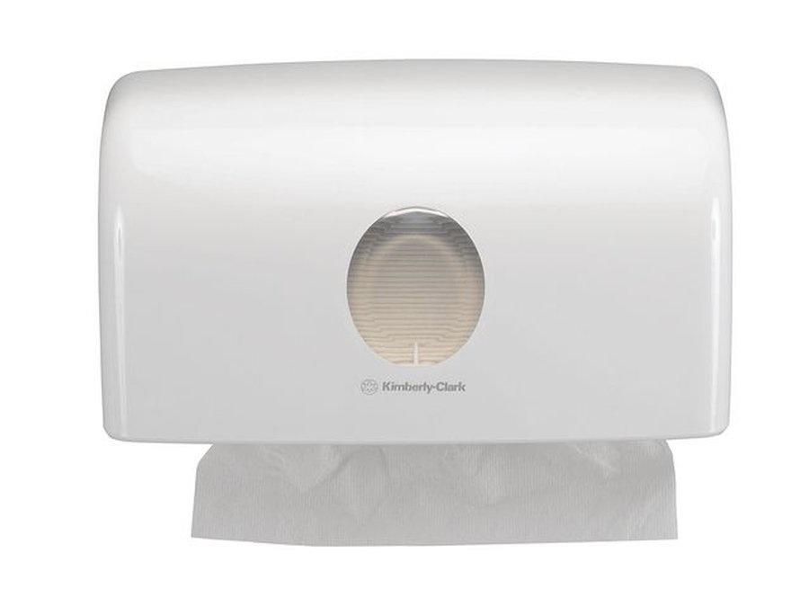 Kimberly-Clark Kimberly-Clark Aquarius dispenser wit C-vouw handdoek met zichtvenster