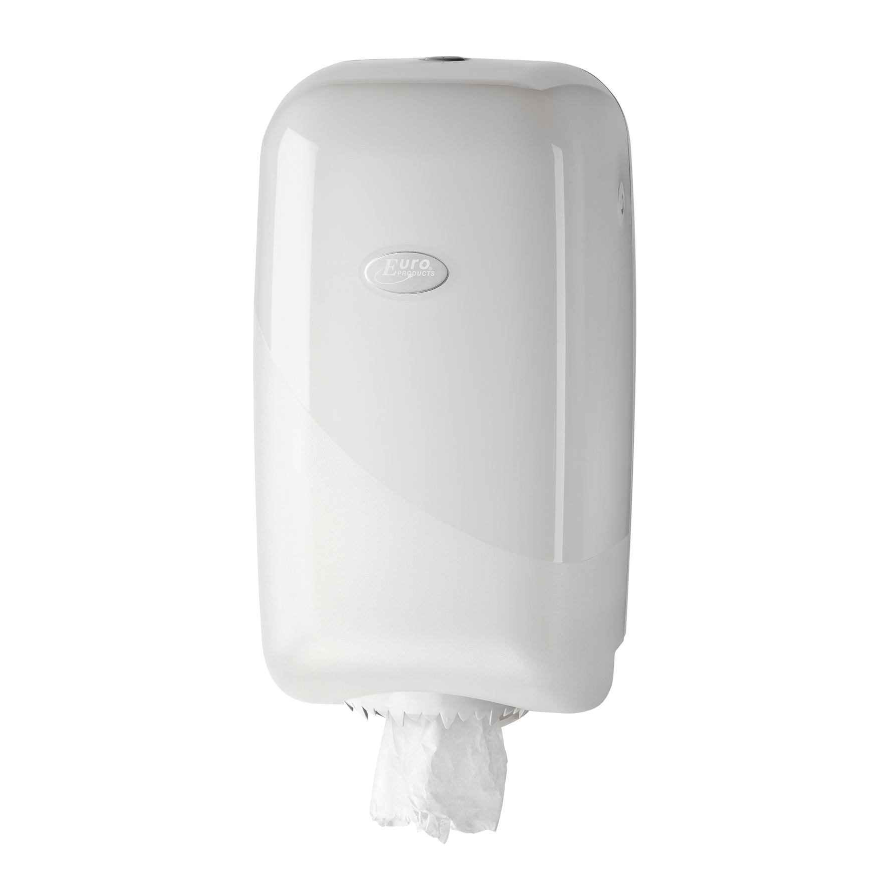 Euro Products Mini boxpapierdispenser Pearl white, wit kunststof