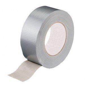 Duct tape universeel 50 mm x 50 mtr (27-35 Mesh) GRIJS, 24 rol/ per doos