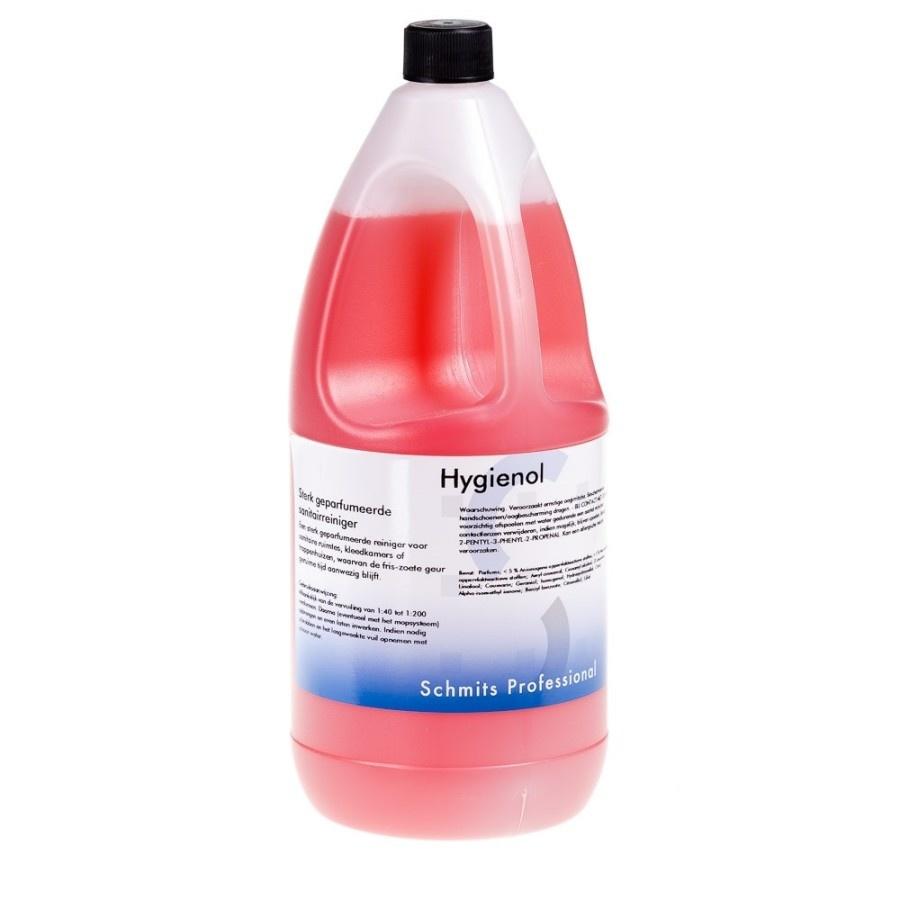 Hygienol 2 ltr sterk geparfumeerde sanitairreiniger - 6 flacon per doos